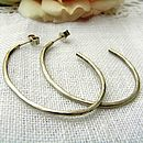 Dappled Silver Hoop Earrings