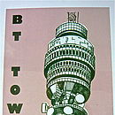 Detail of BT Tower Screen Print
