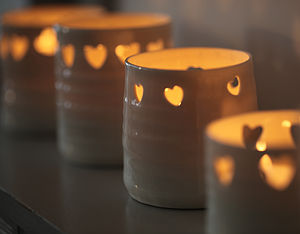Heart Tea Light holders - table decorations