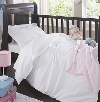 Organic Cotton Sateen Nursery Bedding