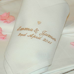 Personalised Wedding Napkins - albums & keepsakes