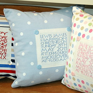 Personalised Panel Cushion - embroidered & beaded cushions