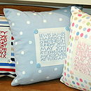 Personalised Special Occasion Cushions