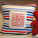 Personalised Birthday Cushion