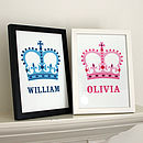 Personalised Crown Print