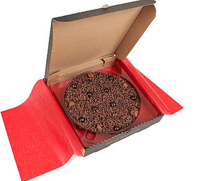 Delightfully Dark Chocolate Pizza - chocolates