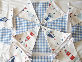 Nautical Bunting - Blue Gingham
