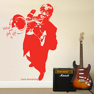 Louis Armstrong 'What We Play…' Wall Sticker - wall stickers