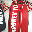 Red Personalised Boot Bag