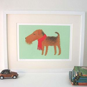 Archie The Airedale Fine Art Print
