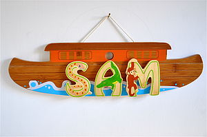 Bamboo Animal Letters And Ark - children's room accessories