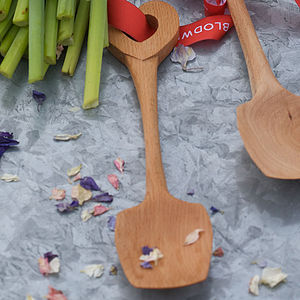 Wooden Hand Carved Heart Love Spoon