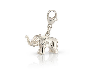 Silver Elephant Charm - children's jewellery