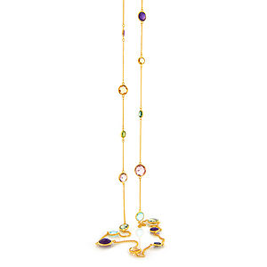 Long Gemstone Fiesta Necklace - women's jewellery