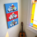 Tin Toy Motorbikes Canvas Print
