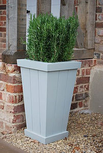 Painted Garden Planter, Chorleywood Range - 25th anniversary: silver