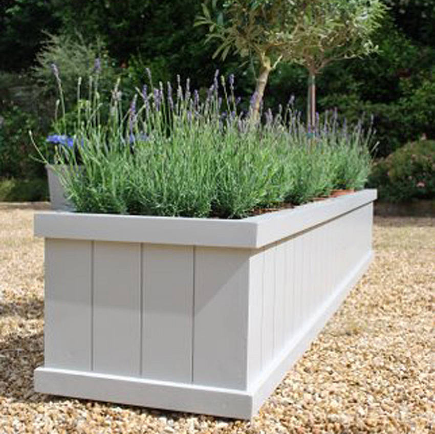 Painted garden planter flaunden range by sandman home and for Garden planters uk