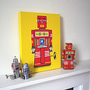 Sparking Robot Canvas Print