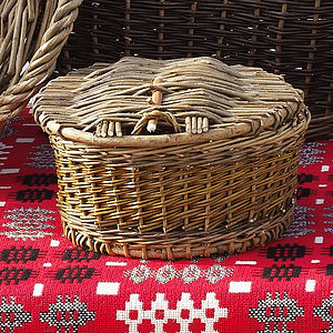 Traditional Welsh Hand Woven Egg Basket
