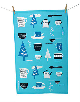 Forest Picnic Tea Towel