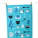 Thumb forest picnic t towel