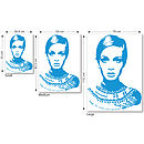 Twiggy wall sticker dimensions
