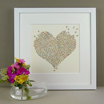 Personalised Fluttering Heart Print