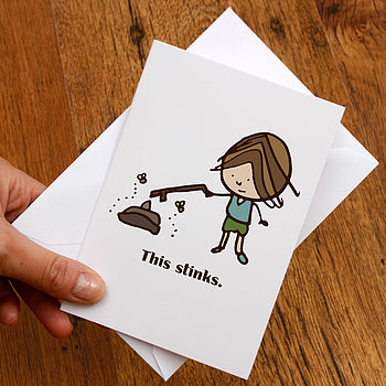 'This Stinks' Illustrated Card