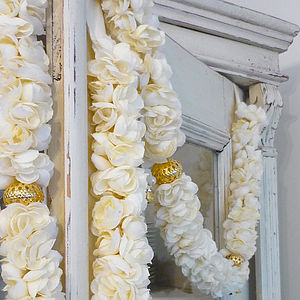 Jasmine Fabric Flower Garland - flowers & plants