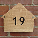 Small Oak House Number