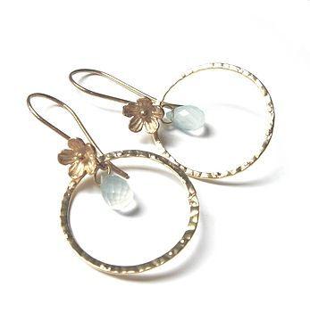 Blossom Gold Vermeil Earrings With Chelcedony