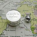 Silver 'World To Explore' Keepsake