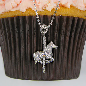 Sterling Silver Coco's Christening Carrousel Necklace - gifts for babies