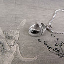 Silver Christening Bootie Charm Necklace
