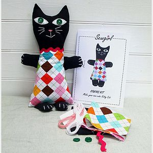 Make Your Own Kitty Cat Sewing Kit - sewing & knitting
