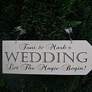 Large Personalised Vintage Wedding Arrow