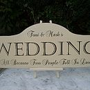 Large Personalised Wedding Sign & Easel