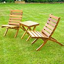 The Burghley Folding Chairs And Table
