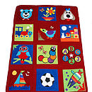 Patchwork Travel Playmat - BERRY RED