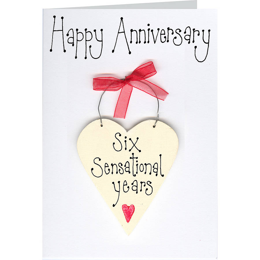 personalised anniversary card by country heart