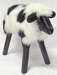 Jacob Lamb Seat Or Footstool - footstools & pouffes