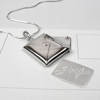 Silver Love Letter Necklace