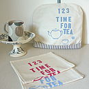 Pale Blue 'Time for Tea' Tea Cosy