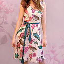 Chiara Dress In Butterfly Print Chiffon