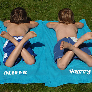 Personalised Child's Bath/Beach Towel - bed, bath & table linen