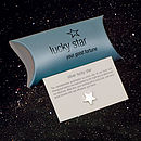 Silver Lucky Star Keepsake