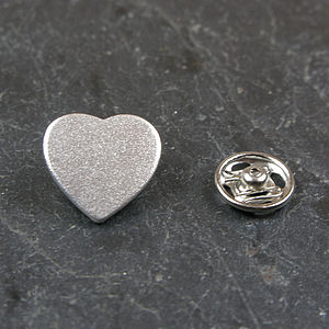 Silver Guardian Heart Keepsake Pin - pins & brooches