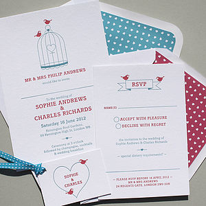 Handprinted Letterpress Wedding Stationery