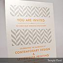 Handprinted Letterpress Wedding Stationery