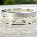 Handmade Men's Chunky Diamond Ring